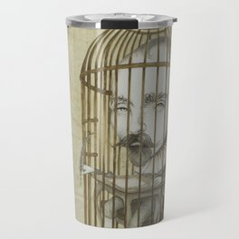 Michel Du Montaigne (1533 - 1592) An Inspirational Philosopher; Prison in the Sky Travel Mug