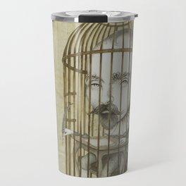Michel Du Montaigne (1533 - 1592) An Inspirational Philosopher; Prison in the Sky Travel Mug