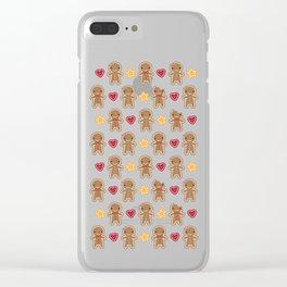 Cookie Cute Gingerbread Men Clear iPhone Case
