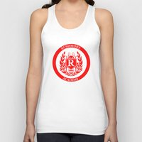 rush Tank Tops featuring Rush by FunnyFaceArt