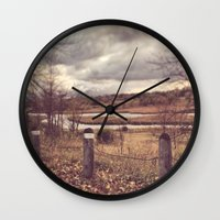 river Wall Clocks featuring River by Anthony Londer