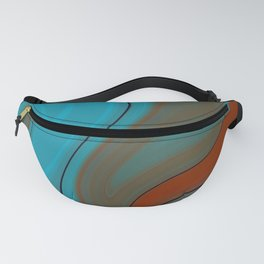 Sunset Sky Marble Fanny Pack