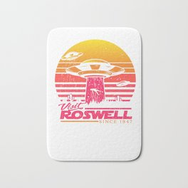 Roswell UFO conspiracy theory Area 51 gift Bath Mat