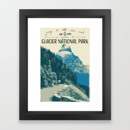 Glacier National Park - Going to the Sun Road Framed Art Print