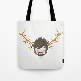 The Man With The Antlers Tote Bag