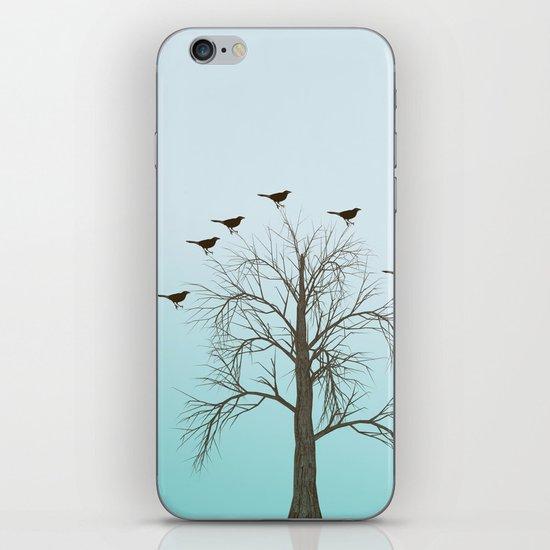 Tree with Birds iPhone & iPod Skin