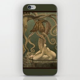 """""""Mermaid and Octopus"""" by David Delamare iPhone Skin"""