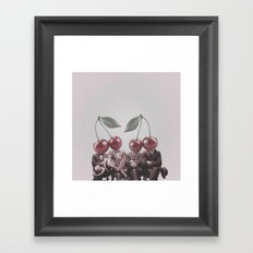 Cherry Mugshot Framed Art Print
