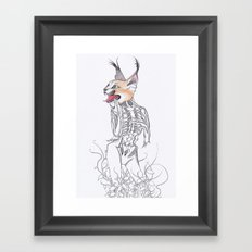 Half Man Half Caracal Framed Art Print