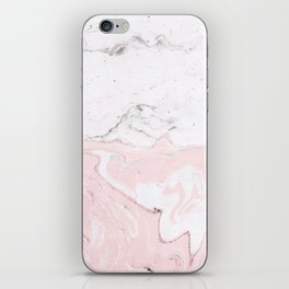 Blend of White Pink Marble iPhone Skin