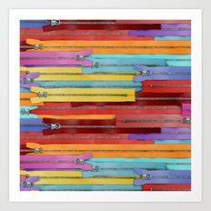 Zippers! Art Print