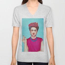 Frida Kahlo Defiant Unisex V-Neck