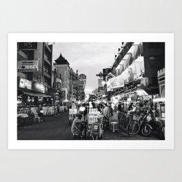 Khao San Road Art Print