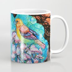 birds and mushrooms Mug