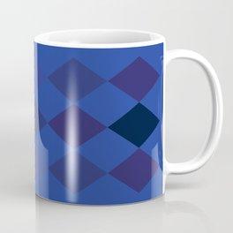 Blue Argyle Pattern Coffee Mug