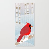 cardinal Canvas Prints featuring CARDINAL by Daniele Vittadello