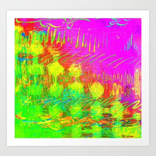 digital Color mix Art Print