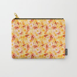 Sunshine Yellow Floral Garden Carry-All Pouch