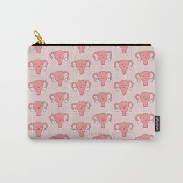 Patterned Happy Uterus in Pink Carry-All Pouch