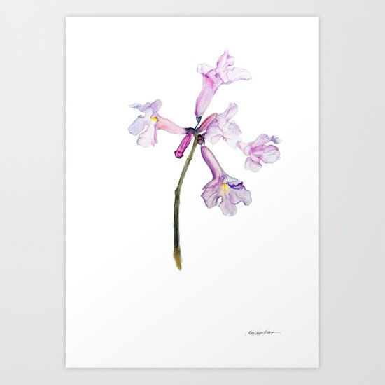 Flowers of the tree *Handroanthus sp* Art Print