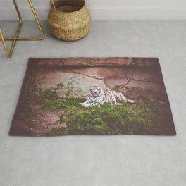 White Bengal Tiger Rug