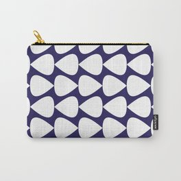 Plectrum Pattern in White on Delft Navy Blue Carry-All Pouch