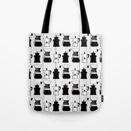 variety of classic, vintage, coffee,  grinder illustration Pattern print Tote Bag
