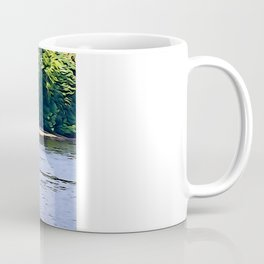 Little Boat on the River Eske Coffee Mug