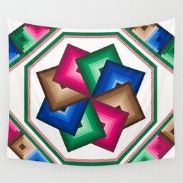 Spinning star quilt Wall Tapestry