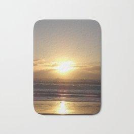 A Golden Ocean Sunrise Bath Mat