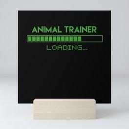Animal trainer Loading Mini Art Print