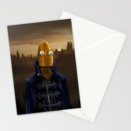 Steampunk Robot Stationery Cards