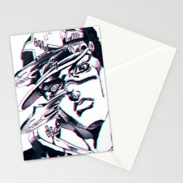 Jotaro Kujo from Jojo's bizarre adventure affected by Whitesnake Stationery Cards