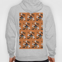 Halloween pattern Witch Monsters Hoody
