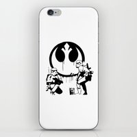 banksy iPhone & iPod Skins featuring Banksy Troopers by Don Calamari