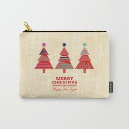 Three Christmas Trees Carry-All Pouch