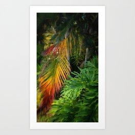 Palm Glow Art Print