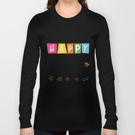 Happy 100th Day Of School Funny Emoji Long Sleeve T-shirt
