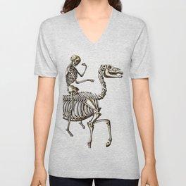Horse Skeleton & Rider Unisex V-Neck
