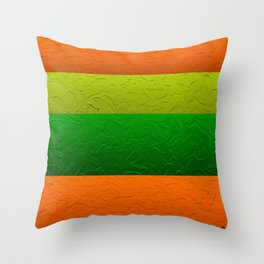 Orange Lime and Green Passion Throw Pillow
