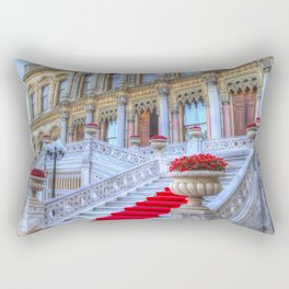Ciragan Palace Istanbul Red Carpet Rectangular Pillow