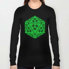 D20 Pot Leaf Crit Dice Long Sleeve T-shirt