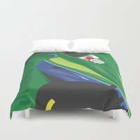 f1 Duvet Covers featuring MINIMAL F1 COLLECTION - JORDAN 191 by Daniele Sanfilippo