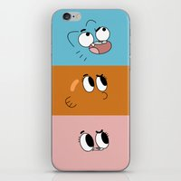bands iPhone & iPod Skins featuring Gumball Bands by LilloKaRillo