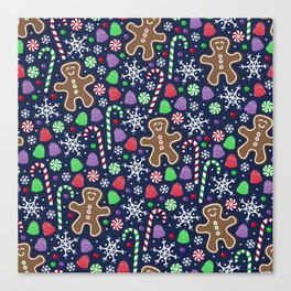 Jolly Gingerbread Canvas Print