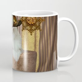 Steampunk, beautiful cat with steampunk hat Coffee Mug