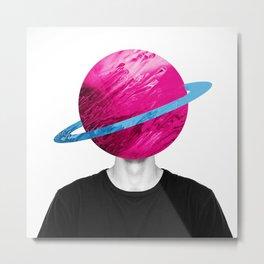 Human Saturn Metal Print