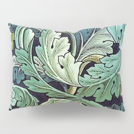 William Morris Herbaceous Italian Laurel Acanthus Textile Floral Leaf Print  Pillow Sham