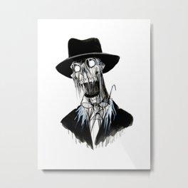 Inktober: Face Melt Metal Print