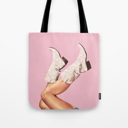 These Boots - Glitter Pink Tote Bag
